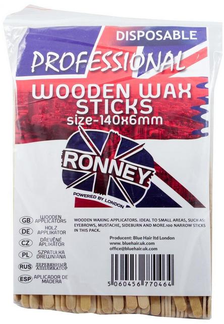 Holzspatel zum Auftragen von Wachs 140x6 mm 100 St. - Ronney Wooden Wax Sticks — Bild N1