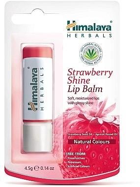 Feuchtigkeitsspendender Lippenbalsam mit Erdbeersamen- und Aprikosenkernöl - Himalaya Herbals Strawberry Shine Lip Balm — Bild N1
