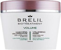 Haarmaske für mehr Volumen mit Bach-Blüten und Bambus - Brelil Bio Treatment Volume Hair Mask — Bild N1