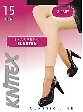 Düfte, Parfümerie und Kosmetik Kurze Damensocken Elastan 15 Den Nero 2 Paare - Knittex