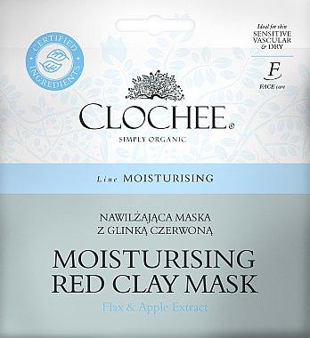 Feuchtigkeitsspendende Gesichtsmaske mit rotem Ton, Flachs- und Apfelextrakt - Clochee Moisturising Red Clay Mask — Bild N1