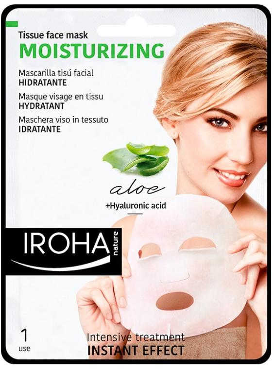 Feuchtigkeitsspendende Tuchmaske für das Gesicht mit Aloe Vera und Hyaluronsäure - Iroha Nature Moisturizing Aloe Tissue Face Mask — Bild N1