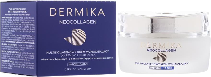 Stärkende Anti-Falten Gesichtscreme für Tag und Nacht 50+ - Dermika Neocollagen Cream +50 — Bild N1