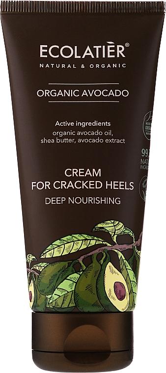 Tief nährende Creme für rissige Fersen mit Bio Avocadoöl, Sheabutter und Avocadoextrakt - Ecolatier Organic Avocado Cream For Cracked Heels — Bild N1