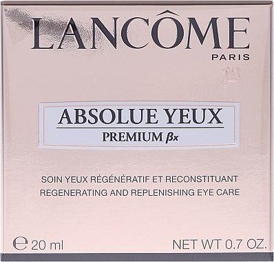 Augenkonturcreme - Lancome Absolue Yeux Premium Bx Regenerating and Replenishing Eye Care — Bild N1