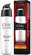 Düfte, Parfümerie und Kosmetik Regenerierende, schützende und glättende Gesichtslotion SPF 15 - Olay Regenerist Day Fluid Lotion SPF15