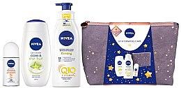 Düfte, Parfümerie und Kosmetik Körperpflegeset - Nivea Q10 Firming Care (Duschgel 250ml + Deodorant 50ml + Lotion 400ml + Kosmetiktasche)