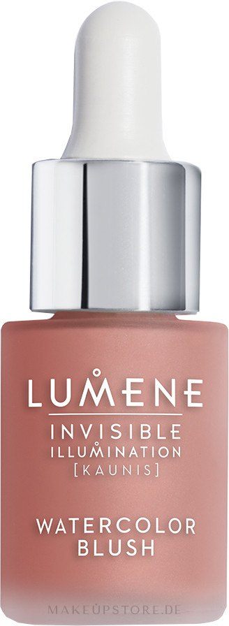 Flüssiges Rouge - Lumene Invisible Illumination Watercolor Blush — Bild Coral Blossom