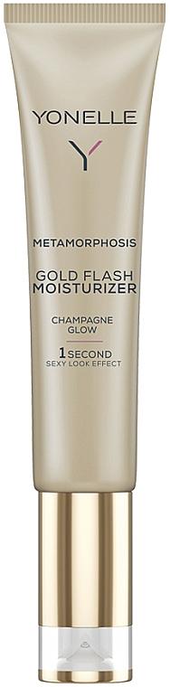 Feuchtigkeitsspendendes Gesichtsgel mit Goldpartikeln - Yonelle Metamorphosis Gold Flash Moisturizer Champagne Glow — Bild N1