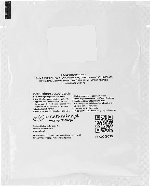 Gesichtsmaske mit Weizengrass, Spirulina und Basilikumöl - Lynia Repair & Protect Peel-off Powder Mask — Bild N2