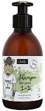 Düfte, Parfümerie und Kosmetik Natürliches Shampoo mit Eichenrindenextrakt gegen Haarausfall für Männer - LaQ
