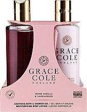 Düfte, Parfümerie und Kosmetik Körperpflegeset - Grace Cole Warm Vanilla & Sandalwood (Duschgel 300ml + Körperpflegeset 300ml)