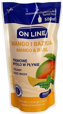"""Flüssigseife """"Mango und Brasilien"""" - On Line Mango & Basil Creamy Hand Wash (Nachfüller) — Bild N1"""