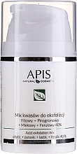 Düfte, Parfümerie und Kosmetik Professionelle Peeling-Säuremischung für das Gesicht - APIS Professional Fit + Pirpgron + Milk + Ferulic 40%