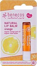 Düfte, Parfümerie und Kosmetik Natürlicher Lippenbalsam mit Orangenschalenöl und Sheabutter - Benecos Natural Care Lip Balm Orange