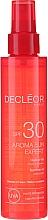 Düfte, Parfümerie und Kosmetik Pflegendes Schutzöl für Haut und Haar SPF 30 - Decleor Aroma Sun Expert Summer Oil Spf30