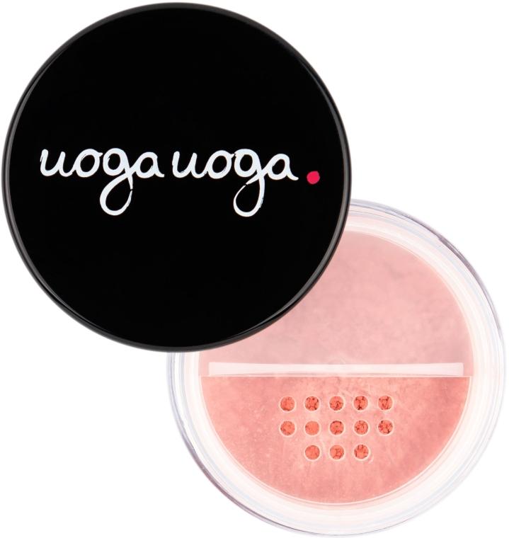 Natürliches Puder-Rouge mit Bernstein - Uoga Uoga Natural Blush Powder With Amber — Bild N2