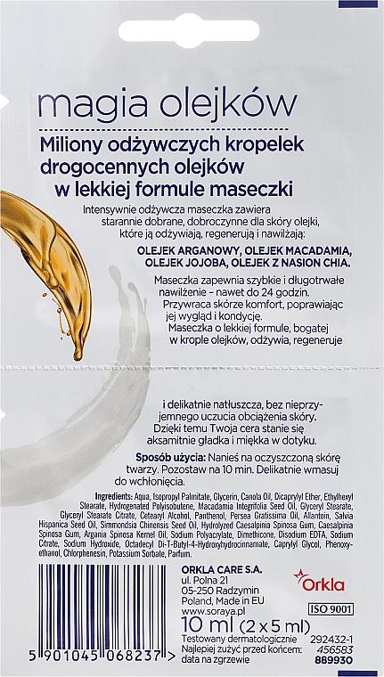 Gesichtsmaske mit Argan-, Macadamia und Jojobaöl - Soraya Magic Of Oils Intensively Nourishing Oil Mask — Bild N2
