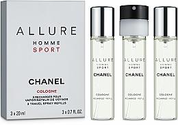 Düfte, Parfümerie und Kosmetik Chanel Allure Homme Sport Cologne - Kölnischwasser (3 x Nachfüllung mit Zesräuber)