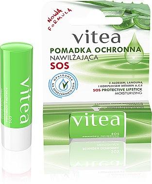 Feuchtigkeitsspendender und schützender Lippenbalsam mit Aloe Vera und Wollwachs - Vitea SOS Lipbalm — Bild N1