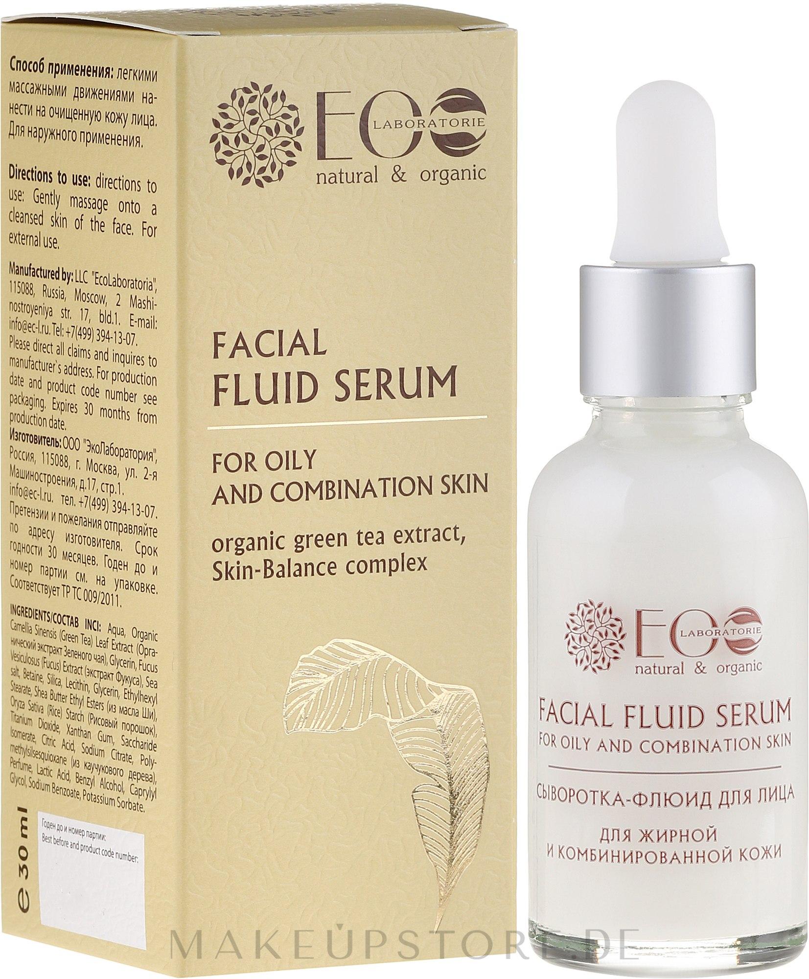 Gesichtsserum mit Sheabutter und Extrakt aus grünem Tee - ECO Laboratorie Facial Fluid Serum — Bild 30 ml