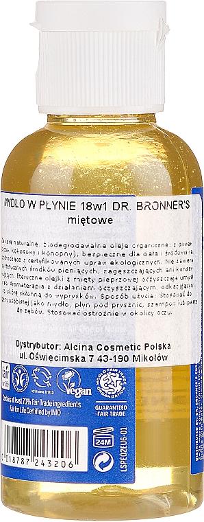 18in1 Flüssigseife mit Pfefferminze für Körper und Hände - Dr. Bronner's 18-in-1 Pure Castile Soap Peppermint — Bild N2