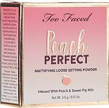 Düfte, Parfümerie und Kosmetik Loser Puder Reisegröße - Too Faced Peach Perfect Setting Powder Travel-Size