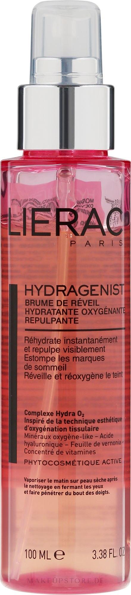 Feuchtigkeitsspendender und aufpolsternder Gesichtsspray - Lierac Hydragenist Morning Moisturizing Mist Oxygenating Replumping — Bild 100 ml
