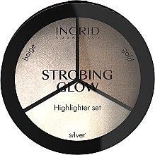 Düfte, Parfümerie und Kosmetik Highlighter-Palette mit Strobe-Effekt - Ingrid Cosmetics Strobing Glow Palette