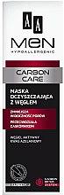 Düfte, Parfümerie und Kosmetik Reinigende Gesichtsmaske mit Aktivkohle für Männer - AA Cosmetics Men Carbon Care Charcoal Face Mask