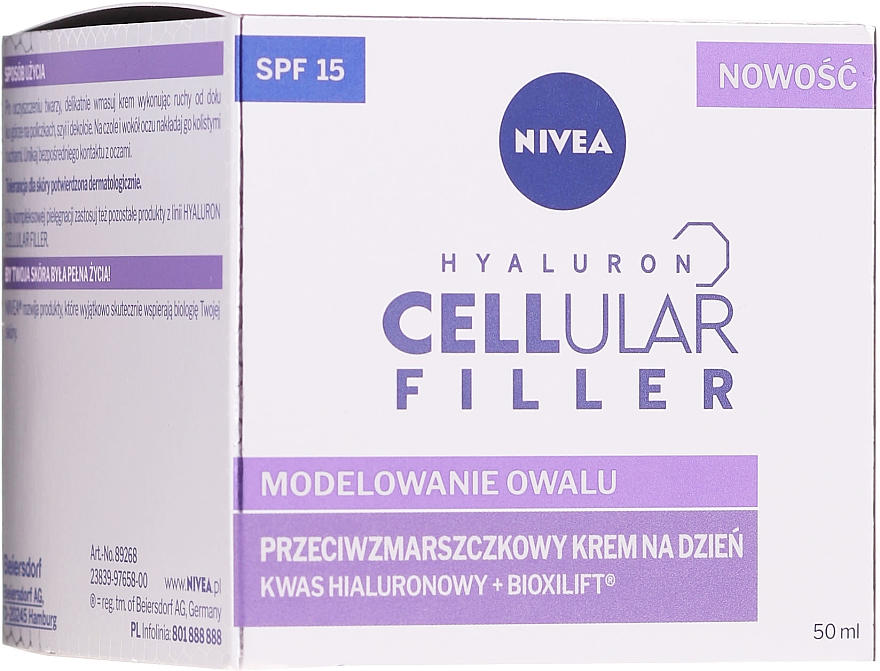 Straffende Anti-Aging Tagescreme SPF 15 - Nivea Hyaluron Cellular Filler Day Cream SPF15 — Bild N1