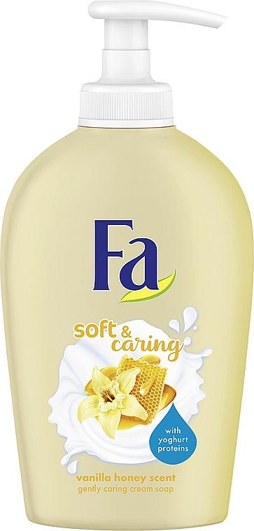 Cremige Flüssigseife mit Vanille- und Honigduft - Fa Soft & Caring Vanilla Honey Scent Gently Caring Cream Soap — Bild N1