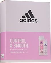 Düfte, Parfümerie und Kosmetik Körperpflegeset - Adidas Control & Smooth (Deospray Antitranspirant 150ml + Duschmilch 250ml)
