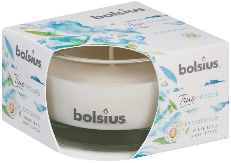 Duftglas Weißer Tee & Minzblätter - Bolsius True Moods Collection In Balance Candle 50 mm x Ø80 mm