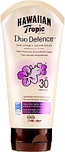 Düfte, Parfümerie und Kosmetik Sonnenschutzlotion mit Grüntee-Extrakt und Antioxidantien SPF 30 - Hawaiian Tropic Duo Defence Sun Lotion SPF30