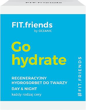 Gesichtscreme-Sorbet für alle Hauttypen - AA Cosmetics FIT.Friends Go Hydrate Hydrosorbet — Bild N2
