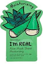 Düfte, Parfümerie und Kosmetik Feuchtigkeitsspendende Tuchmaske für das Gesicht mit Aloe Vera - Tony Moly I'm Real Aloe Mask Sheet