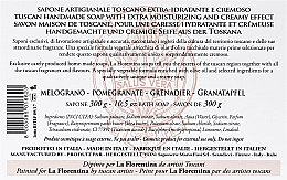 Granatapfel Seife - La Florentina Pomegranate Bath Soap — Bild N5