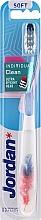 Düfte, Parfümerie und Kosmetik Zahnbürste weich Individual Clean mit Schutzkappe, rot-blau mit Feder - Jordan Individual Clean Soft