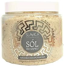 Düfte, Parfümerie und Kosmetik Feuchtigkeitsspendendes und entspannendes Badesalz für Hände und Füße mit Magnesium und Kalium - Slavica