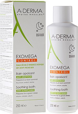Beruhigende Körpercreme für Neurodermitis neigende Haut - A-Derma Exomega Control Soothing Bath — Bild N2