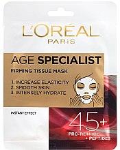 Düfte, Parfümerie und Kosmetik Intensiv feuchtigkeitsspendende und straffende Gesichtsmaske 45+ - L'Oreal Paris Age Specialist 45+