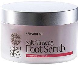 Fußpeeling mit Meersalz und Ginseng - Natura Siberica Fresh Spa Kam-Chat-Ka Salt Ginseng Foot Scrub — Bild N2