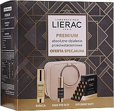 Düfte, Parfümerie und Kosmetik Gesichtspflegeset - Lierac Premium (Kapseln 30 St. + Gesichtsserum 30ml + Augencreme 15ml + Pouch)