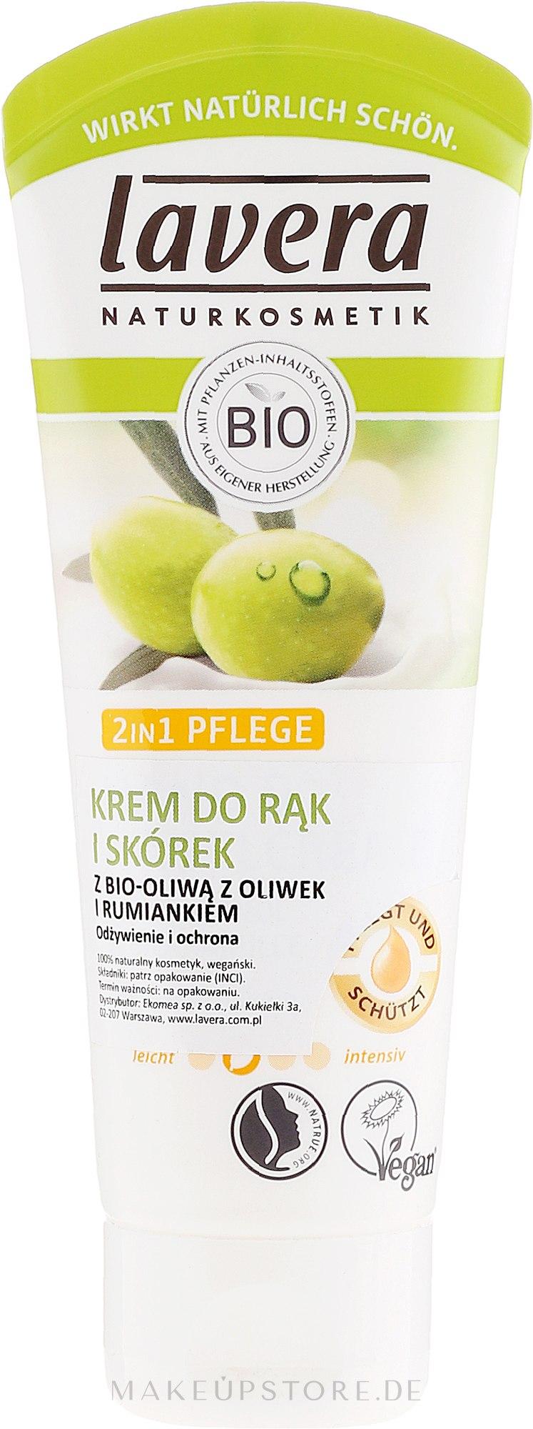 2in1 Hand- und Nagelhautcreme - Lavera 2in1 Hand And Cuticle Cream — Bild 75 ml