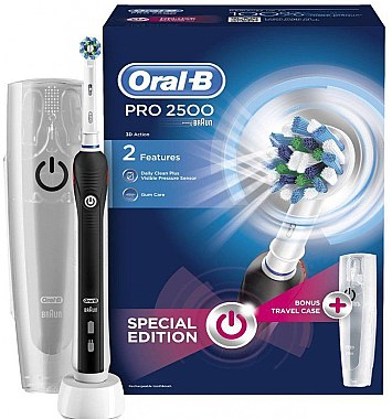 Set - Oral-B Pro 2500 (toothbrush/handle/1pc + charger/1pc + toothbrush/head/1pc + case) — Bild N1