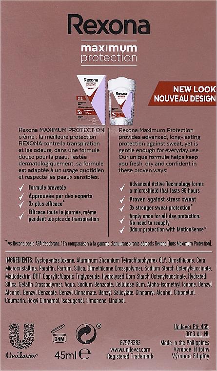 Deostick Antitranspirant - Rexona Maximum Protection Sensitive Dry — Bild N5