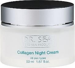 Nachtcreme mit Kollagen für alle Hauttypen - Dr. Sea Night Cream — Bild N2