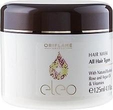 Düfte, Parfümerie und Kosmetik Intensiv pflegende Haarmaske mit Argan- und Rosenöl - Oriflame Eleo Hair Mask