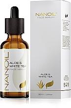 Düfte, Parfümerie und Kosmetik Gesichtsserum mit Aloe Vera und weißem Tee - Nanoil Aloe & White Tea Face Serum